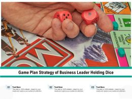 Game Plan Strategy Of Business Leader Holding Dice