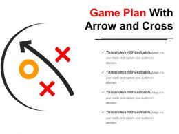 Game Plan With Arrow And Cross