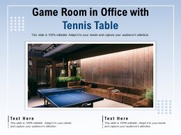 Game Room In Office With Tennis Table