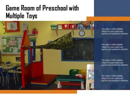 Game Room Of Preschool With Multiple Toys