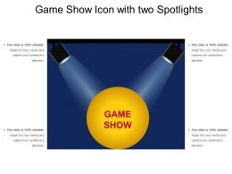 Game Show Icon With Two Spotlights