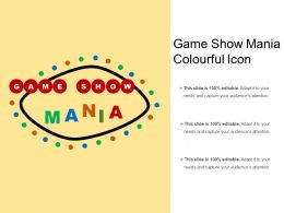Game Show Mania Colourful Icon