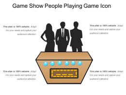 Game Show People Playing Game Icon