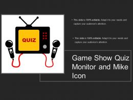 Game Show Quiz Monitor And Mike Icon