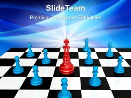 Game Strategy Powerpoint Templates Chess King Image Ppt Layouts