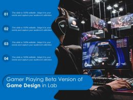 Gamer Playing Beta Version Of Game Design In Lab
