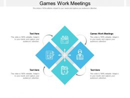 Games Work Meetings Ppt Powerpoint Presentation Infographic Template Images Cpb