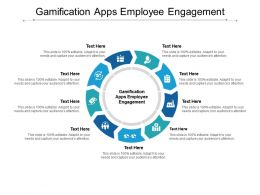 Gamification Apps Employee Engagement Ppt Powerpoint Presentation Pictures Master Cpb