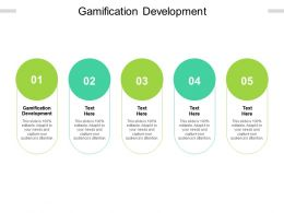 Gamification Development Ppt Powerpoint Presentation Ideas Introduction Cpb