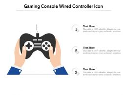 Gaming Console Wired Controller Icon