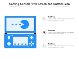 Gaming Console With Screen And Buttons Icon