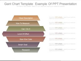 Gant Chart Template Example Of Ppt Presentation