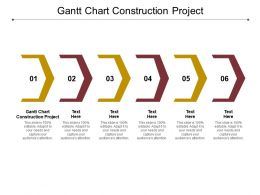 Gantt Chart Construction Project Ppt Powerpoint Show Example Introduction Cpb