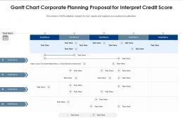 Gantt Chart Corporate Planning Proposal For Interpret Credit Score