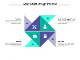 Gantt Chart Design Process Ppt Powerpoint Presentation Slides Guidelines Cpb