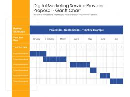 Gantt Chart Digital Marketing Service Provider Proposal Ppt Powerpoint Presentation Infographic
