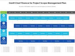 Gantt Chart Finance For Project Scope Management Plan