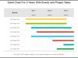 Gantt Chart For 3 Years With Events And Project Tasks