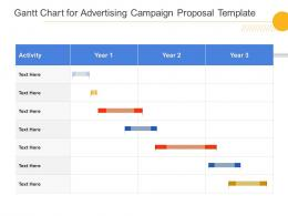 Gantt Chart For Advertising Campaign Proposal Template Ppt Powerpoint Presentation Styles