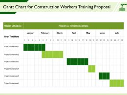 Gantt Chart For Construction Workers Training Proposal Deliverable Ppt Powerpoint Presentation Clipart