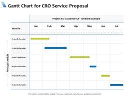 Gantt Chart For CRO Service Proposal Ppt Powerpoint Presentation Pictures Slides