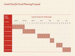 Gantt Chart For Event Planning Proposal Ppt Powerpoint Presentation Portfolio