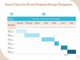 Gantt Chart For Event Proposal Design Templates Ppt Layouts