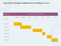 Gantt Chart For Heating Ventilation And Air Conditioner Services Ppt Icon