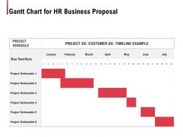 Gantt Chart For HR Business Proposal Ppt Powerpoint Presentation Professional