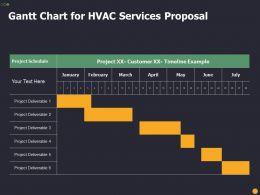 Gantt Chart For HVAC Services Proposal Ppt Powerpoint Presentation Icon Slides
