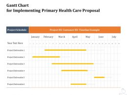 Gantt Chart For Implementing Primary Health Care Proposal Ppt Powerpoint File