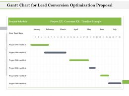 Gantt Chart For Lead Conversion Optimization Proposal Ppt Gallery