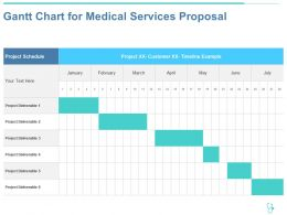 Gantt Chart For Medical Services Proposal Ppt Powerpoint Presentation Professional
