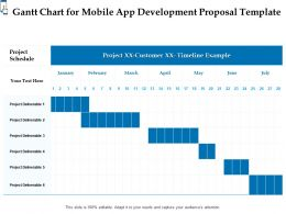 Gantt Chart For Mobile App Development Proposal Template Ppt Powerpoint Infographics