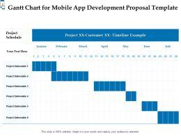 Gantt Chart For Mobile App Development Proposal Template Ppt Powerpoint Infographics