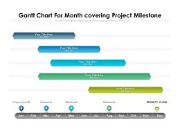 Gantt Chart For Month Covering Project Milestone