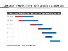 Gantt Chart For Month Covering Project Schedule Of Different Tasks