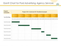 Gantt Chart For Paid Advertising Agency Services Ppt Powerpoint Presentation Sample