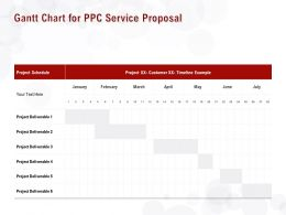 Gantt Chart For PPC Service Proposal Ppt Powerpoint Presentation Styles