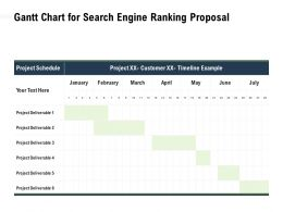 Gantt Chart For Search Engine Ranking Proposal Schedule Ppt Powerpoint Presentation Graphics