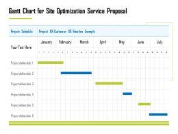 Gantt Chart For Site Optimization Service Proposal Ppt Demonstration