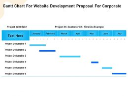 Gantt Chart For Website Development Proposal For Corporate Ppt File Slides
