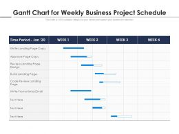 Gantt Chart For Weekly Business Project Schedule