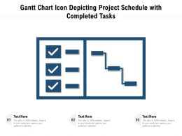 Gantt Chart Icon Depicting Project Schedule With Completed Tasks