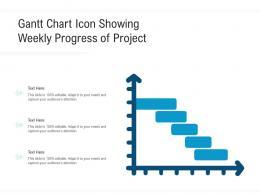 Gantt Chart Icon Showing Weekly Progress Of Project