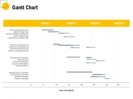 Gantt Chart Management Ppt Powerpoint Presentation Infographic