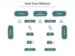 Gantt Chart Milestone Ppt Powerpoint Presentation Outline Format Ideas Cpb