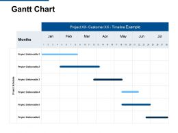 Gantt Chart Months Ppt Powerpoint Presentation Model Example Topics