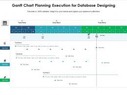 Gantt Chart Planning Execution For Database Designing