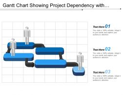 Gantt Chart Showing Project Dependency With Silhouette